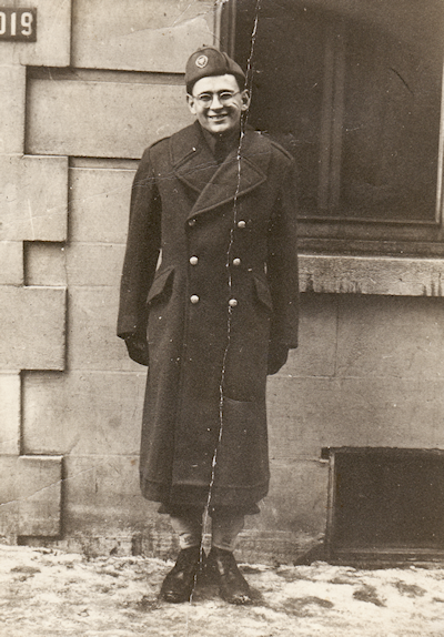 Werner Schott in Canadian camp during Second World War.