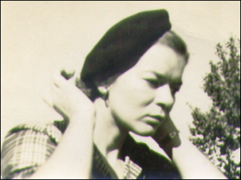 My mom in her beret.