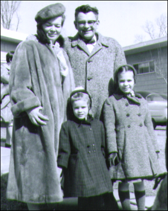 My parents, my sister Mimi and me.